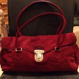 Reduced-✨Suede Prada handbag