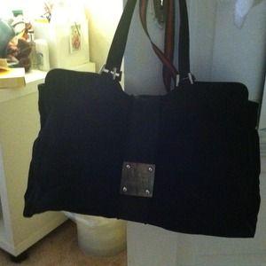 Authentic Karl Lagerfeld black velvet bag