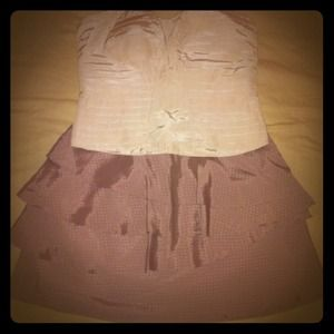 Urban Outfitters Blush Ruffle Skirt