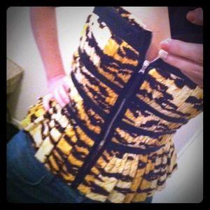 ↘Reduced↙D&G-leopard corset top with peplum bottom