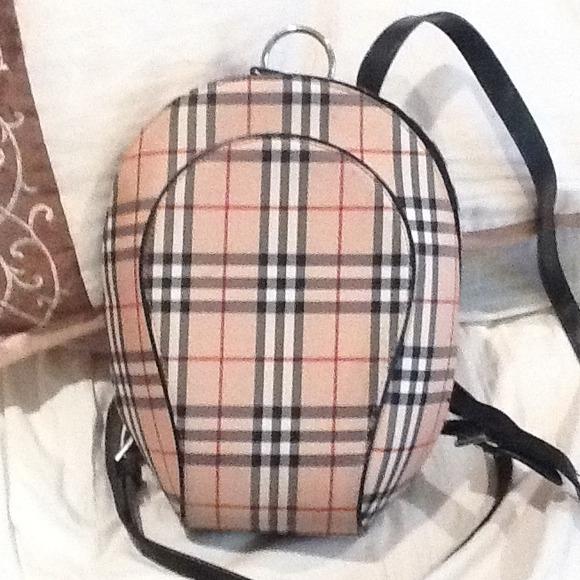 Handbags - Replica Burberry print small backpack purse. 24a54fec5295b