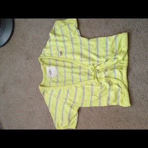 Hollister Outerwear - Yellow cardi from Hollister
