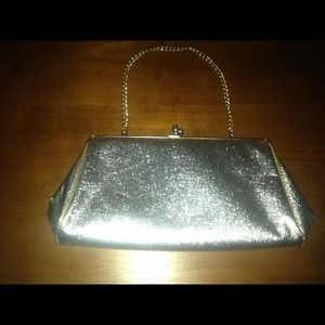 Handbags - Silver metallic purse