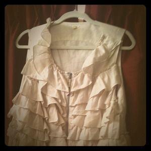 Last day-Reduced- J Crew-blush ruffle vest