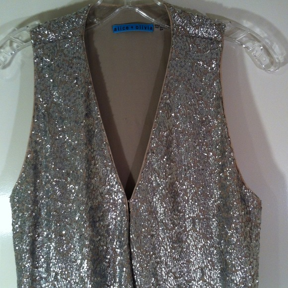 Alice + Olivia Jackets & Coats - Sparkly sequin Alice + Olivia vest only worn once!