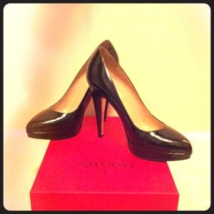 Valentino Shoes - Valentino Black Patent Leather Pumps