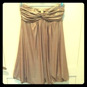 Forever 21 Dresses & Skirts - Reserved @candyaddict Gold Strapless Dress