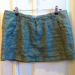 Joie green linen skirt