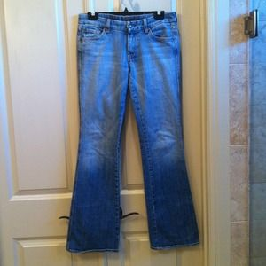 Seven jeans with pink pocket stitching