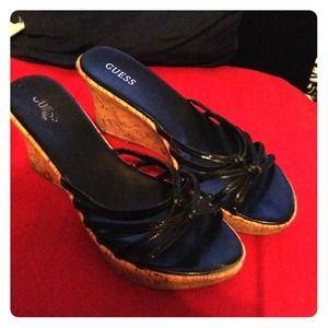 SALE!! Guess brand size 10 cork wedge sandals