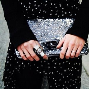 Bags - Miu Miu Inspired Sequined Clutch- REDUCED