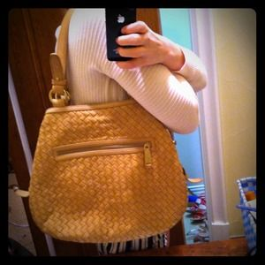 REDUCED Blush/beige braided Cole Haan 2011 hobo
