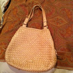 Cole Haan Bags - REDUCED Blush/beige braided Cole Haan 2011 hobo