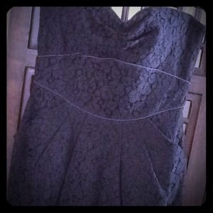 Forever 21 Dresses & Skirts - NWT! Black Lace Strapless Dress