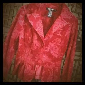Rampage Jackets & Blazers - Rampage Red Velvet Blazer