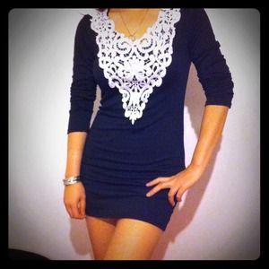 Dresses & Skirts - Black crochet detailing dress 🙅reserved