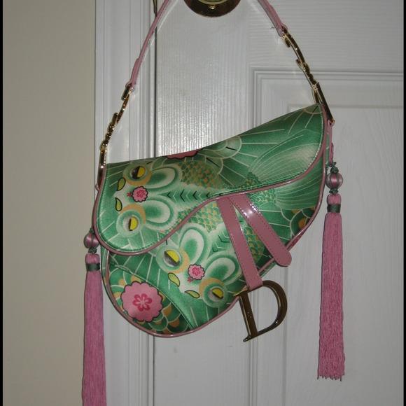 Dior Limited Edition Oriental Fish Saddle Bag