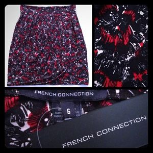 French Connection Dresses & Skirts - NWT! French Connection Printed Wrap Skirt
