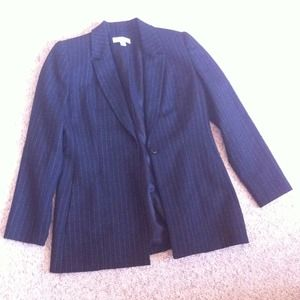 Macy's  Jackets & Blazers - Black Pinstriped Suit Jacket