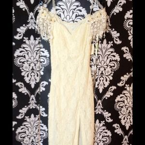 Dresses & Skirts - VINTAGE ❤LACE ,FLOWERS, & RIBBON ANGELIC DRESS👼