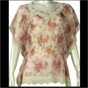 Tops - Lace chiffon floral top - Brand new!