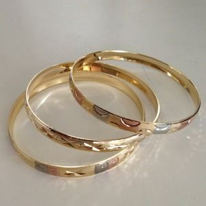 Accessories - Gold filled bangles from India set of 3