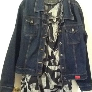 Guess Jackets & Blazers - GUESS.....dark blue denim jacket