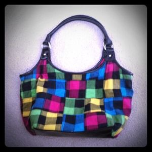 Handbags - Multicolored plaid purse