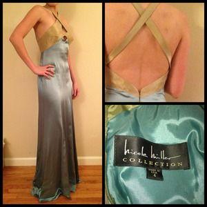 *new* Nicole Miller silk goddess gown