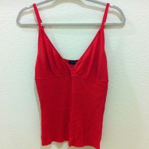bebe Tops - RESERVED @justme - Red hot Bebe sweater tank top