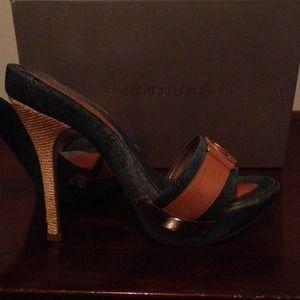 Shoes - Gianmarco Lorenzi denim mules