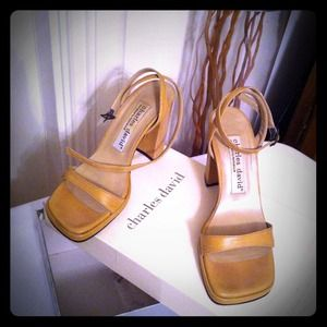 Charles David Shoes - Charles David: Camel Strap Heels