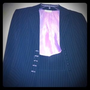 Dresses & Skirts - Pink Pin Stripe Jacket & Skirt