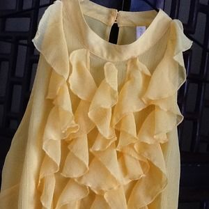 Xhilaration Tops - RESERVED for @tiffanycf Ruffled Pop-of-Yellow Top