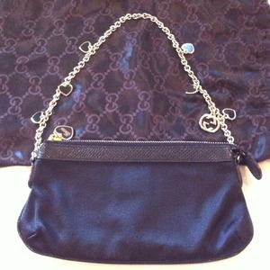 Gucci Clutches & Wallets - SALE! Satin/Snake Skin Gucci Handbag- reduced