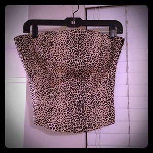 Leopard Corset Style Top