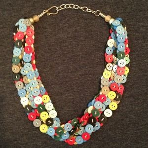 RESERVED (Brand New) One of a kind BUTTON Necklace