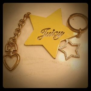 Juicy Couture Jewelry - 💛💙JUICY SHOOTING STAR YELLOW KEYCHAIN