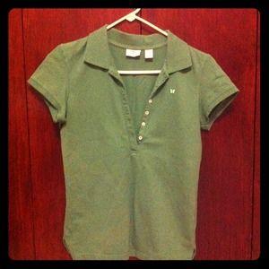 Aeropostale olive green polo shirt