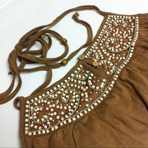 Brand New w/ Tag✨ Beaded Halter Top