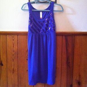 BUNDLED: Purple empire waist sparkle dress