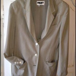 "DKNY Jackets & Blazers - RESERVED Vintage DKNY ""boyfriend"" silk blazer"
