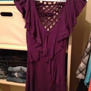 Bebe purple top