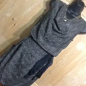 NWT Scoop neck silk dress