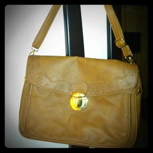 A Wear Handbags - Brown faux leather purse
