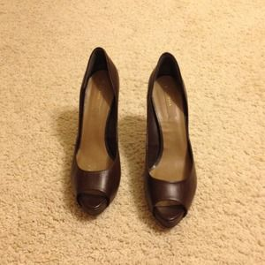 Zara Shoes - Open toe brown heels