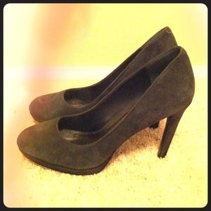 BCBGeneration Shoes - BCBG grey suede pumps
