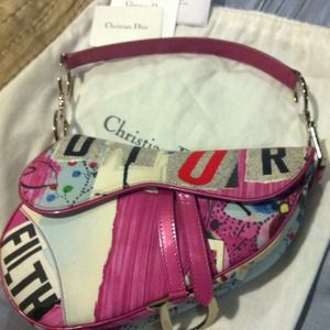 Dior Handbags - Dior Limited Edition Glamour saddle bag