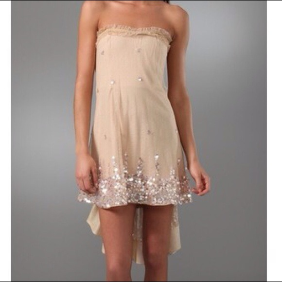 Foley + Corinna Dresses - Foley + Corinna Strapless Sequin Dress