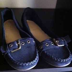 J. Crew Shoes - J. Crew Blue Suede Driving Moccasins
